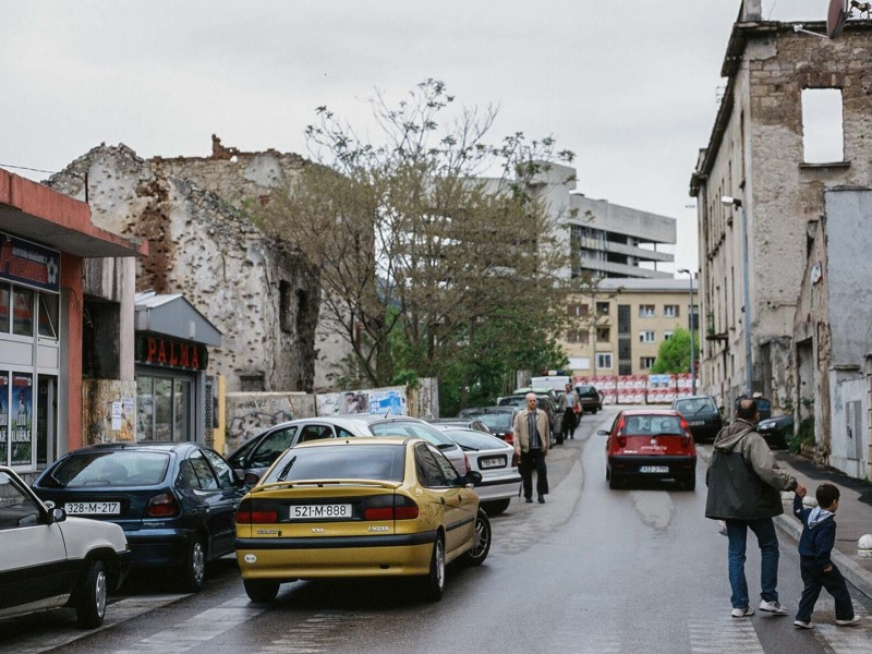 Bosnien, Strassenszene Mostar